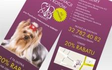 Ulotka salonu pielęgnacji psów i kotów