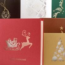 Kartki świąteczne pozwalają się wyróżnić