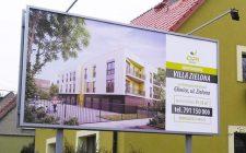 "Billboard reklamowy inwestycji ""Villa Zielona"" dewelopera OPI Invest"