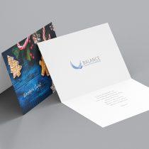 """Kartka świąteczna dla """"Usługi Psychologiczne Balance"""""""