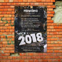 """Plakat pubu """"Podwórko Food&Mood"""" w Gliwicach, sylwester 2017"""