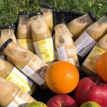 Etykiety świeżo wyciskanych soków Manufaktura Ekologiczna
